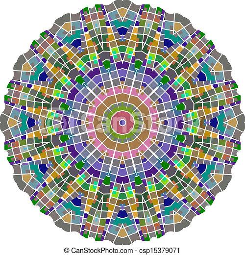 Circle floral ornament - csp15379071