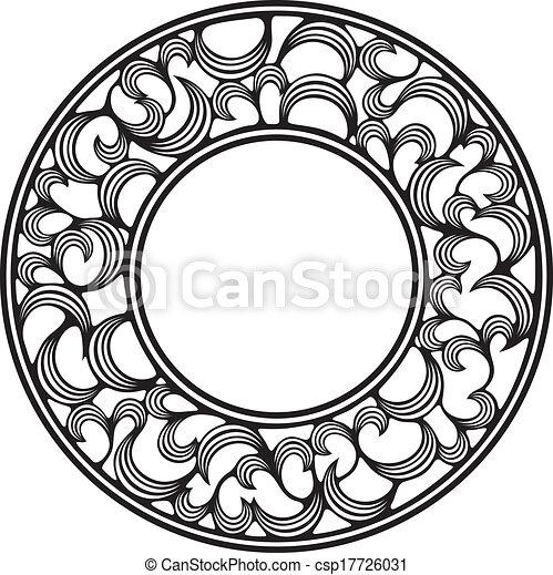 circle frame - csp17726031