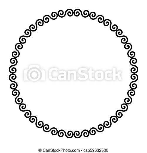 Circle frame with Celtic double spirals - csp59632580