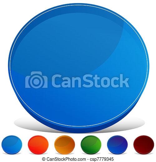 Circle Gemstone Button Set - csp7779345