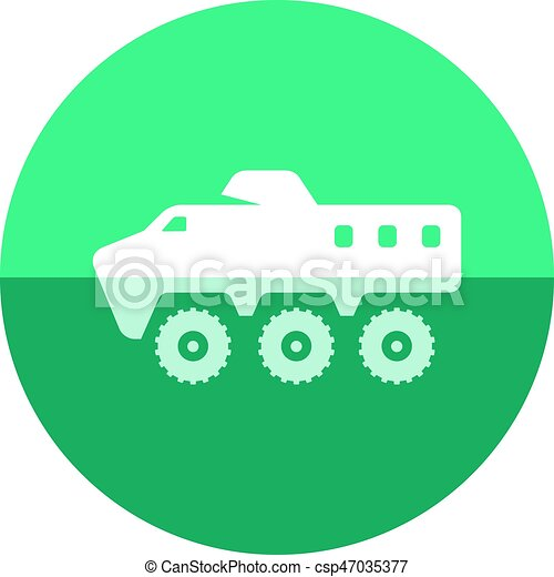 Circle icon - Armored vehicle - csp47035377
