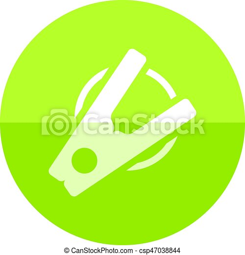 Circle icon - Clothes peg - csp47038844