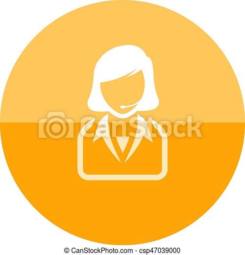 Circle Icon Female Receptionist