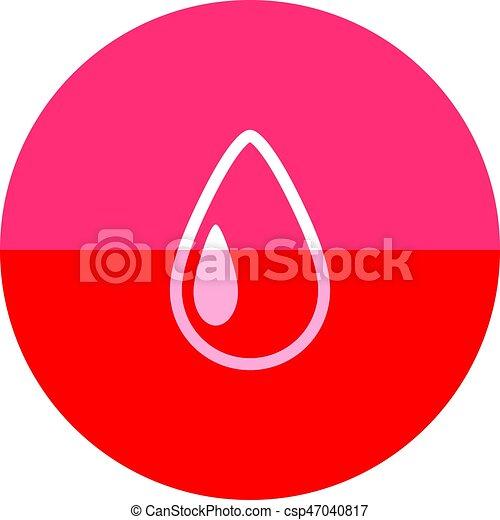 Circle icon - Water drop - csp47040817