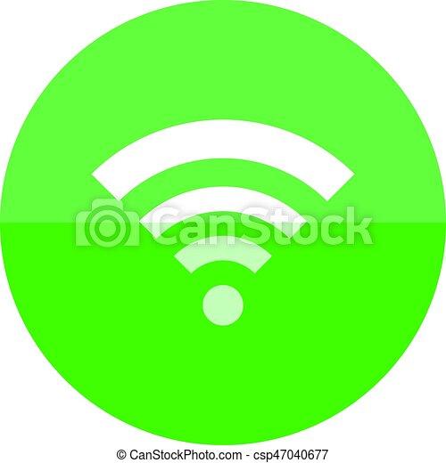circle icon wifi symbol wifi symbol icon in flat color circle