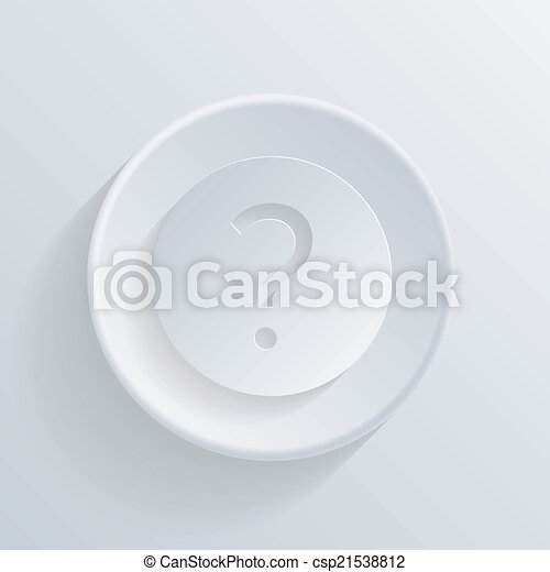circle icon with a shadow. the question mark - csp21538812
