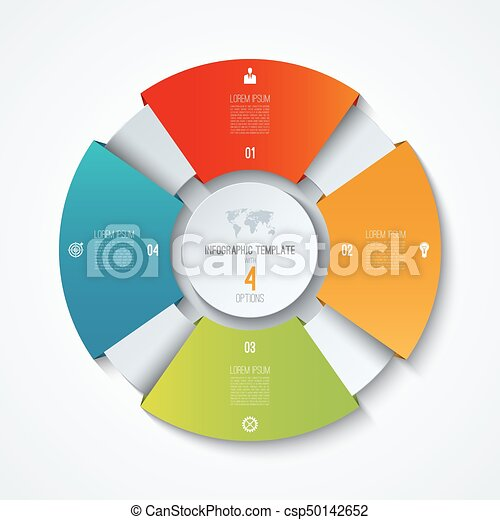 Circle infographic template process wheel vector pie clipart process wheel vector pie chart business concept with 4 options ccuart Choice Image