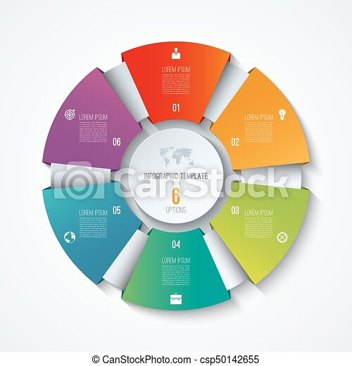 Circle infographic template process wheel vector pie chart circle infographic template process wheel vector pie chart business concept with 6 options cheaphphosting Images