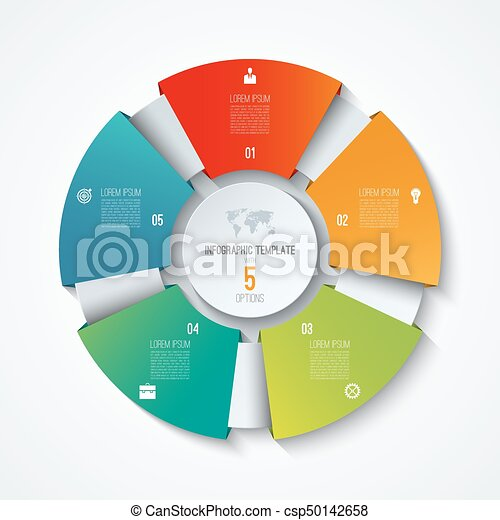 Circle infographic template process wheel vector pie chart circle infographic template process wheel vector pie chart business concept with 5 options cheaphphosting Choice Image
