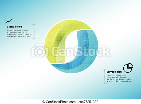 Circle infographic vector template consists of two parts - csp77251322