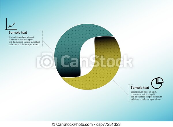 Circle infographic vector template consists of two parts - csp77251323