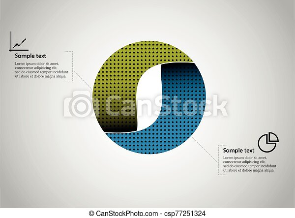 Circle infographic vector template consists of two parts - csp77251324