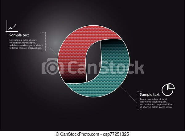 Circle infographic vector template consists of two parts - csp77251325