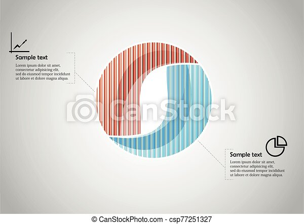 Circle infographic vector template consists of two parts - csp77251327