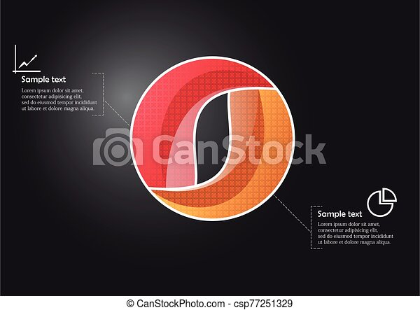 Circle infographic vector template consists of two parts - csp77251329