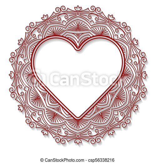 Circle Lace Ornament Round Ornamental Geometric Doily Pattern