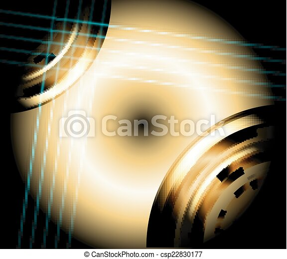 Circle light abstract background - csp22830177