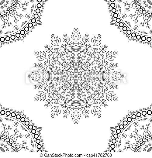 Circle mandala floral pattern. vintage decorative round element ...