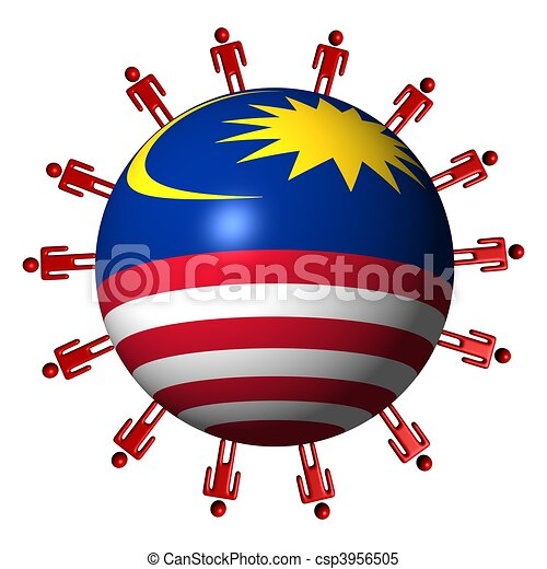 Malaysian People Clipart Circle of abstr...