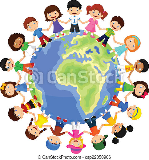 Circle of happy children different  - csp22050906