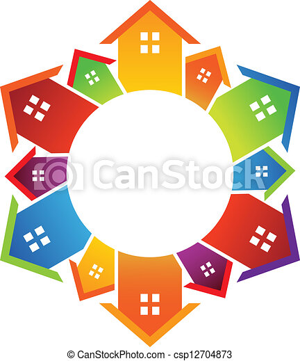 Circle of houses - csp12704873
