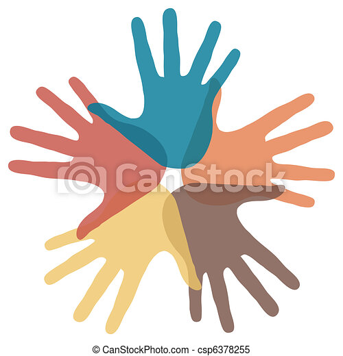 Circle of loving hands.  - csp6378255