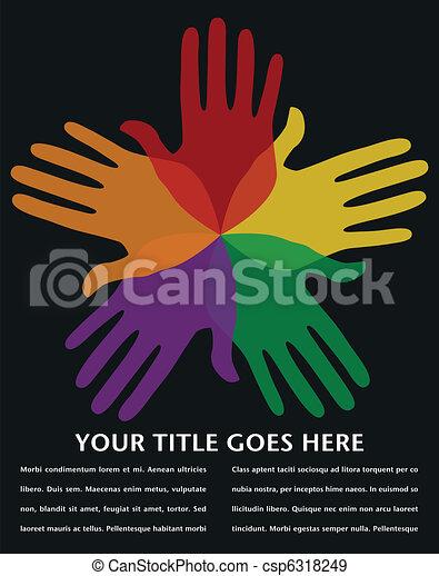 Circle of loving hands design. - csp6318249