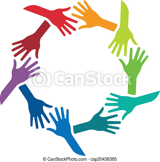 circle of shaking hands image logo vector search clip art rh canstockphoto com twins shaking hands logo shaking hands logo images