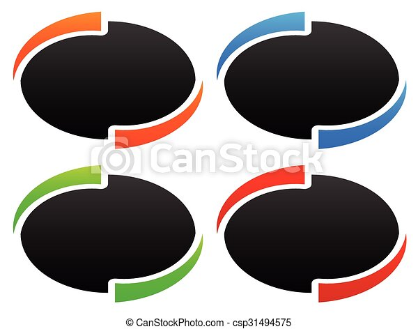 Line Drawing Vector Graphics : Circle oval ellipse design elements backgrounds. vector