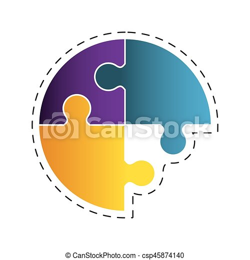 circle puzzle solution image - csp45874140