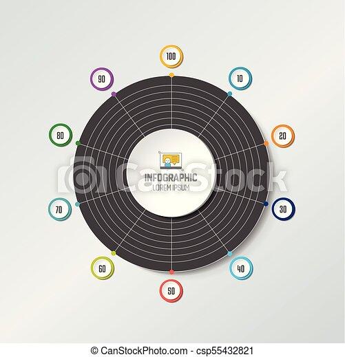 Circle radar spider net chart graph infographics element vector circle radar spider net chart graph infographics element csp55432821 ccuart Gallery