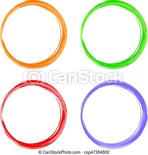 Circle round color abstract shape frame vector art... vector clipart ...