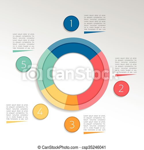Circle Round Infographic Pie Chart Graph Vector Design
