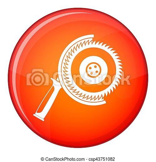 Circle saw icon, flat style - csp43751082