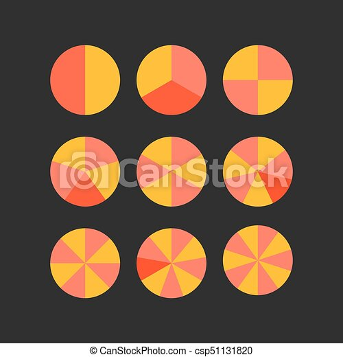 Circle segments vector wheel diagram set chart vector illustration circle segments vector ccuart