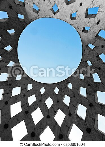 Circle shaped roof of a modern building - csp8801604