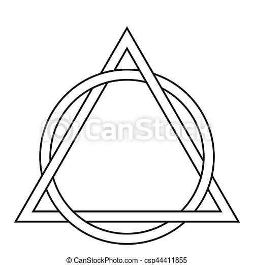 Circle Weave Triangle Tattoo Triangle Interwoven With The Sides Of