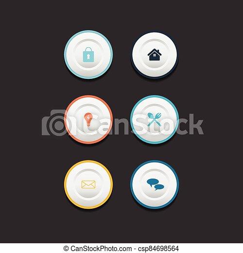 Circle web design button collection - csp84698564