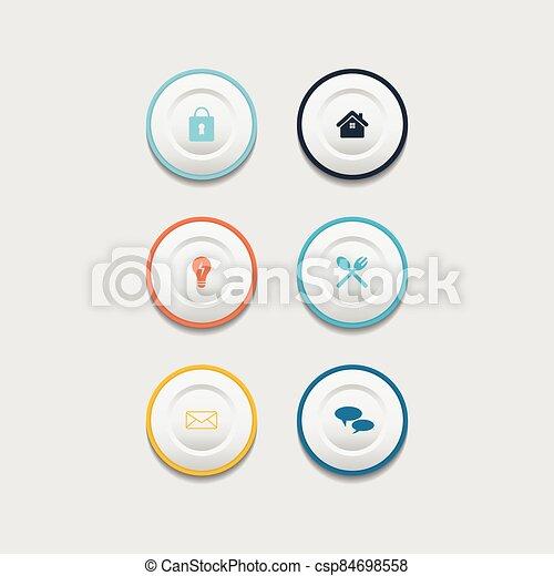 Circle web design button collection - csp84698558