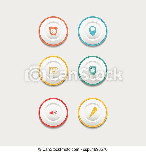 Circle web design button collection - csp84698570