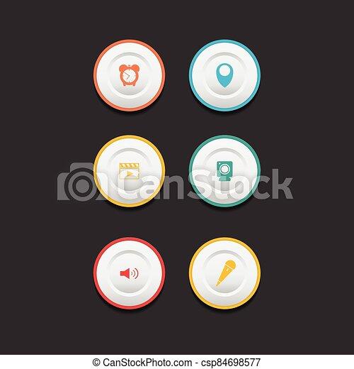 Circle web design button collection - csp84698577