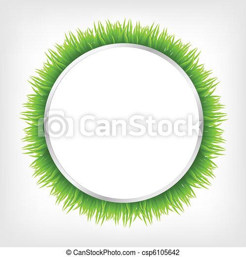 Circle With Grass - csp6105642