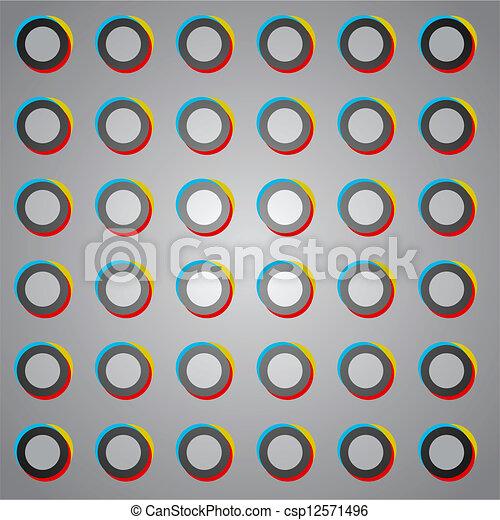 circles color art - csp12571496