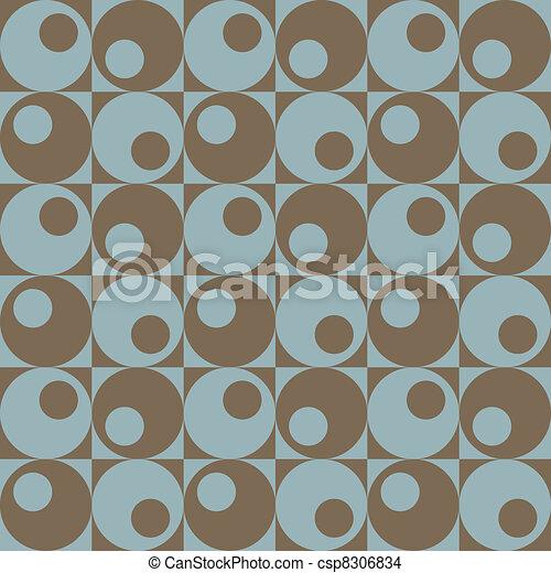 Circles In Squares Blue-Brown - csp8306834