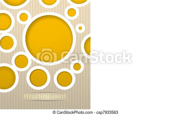 Circles postcard vector illustration - csp7933563