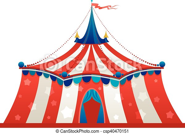 Circo Tendone Tenda Circo Isolato Tendone Tenda