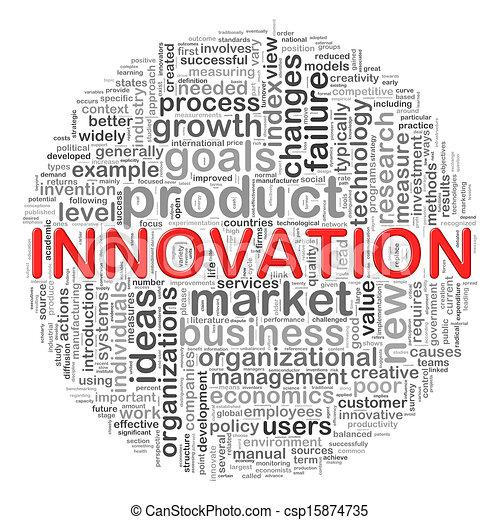 circolare, innovazione, etichette, disegno, parola - csp15874735