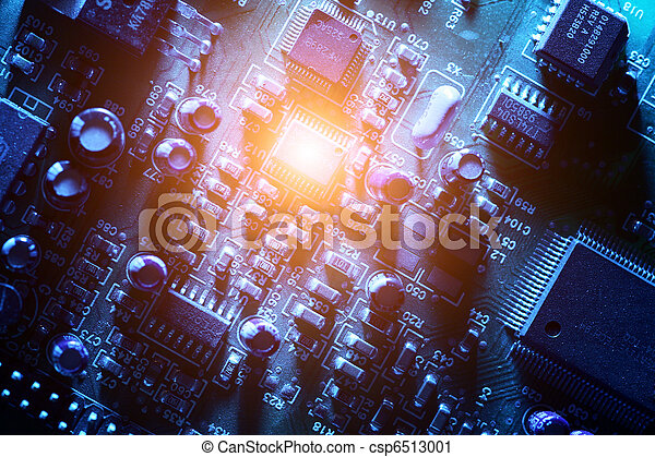 Circuit board abstract background texture. - csp6513001