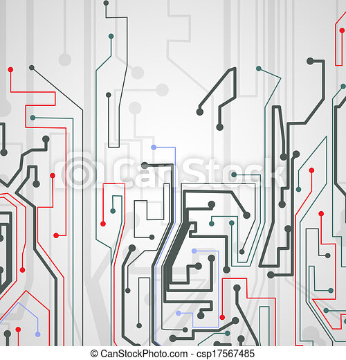 Circuit board background. - csp17567485
