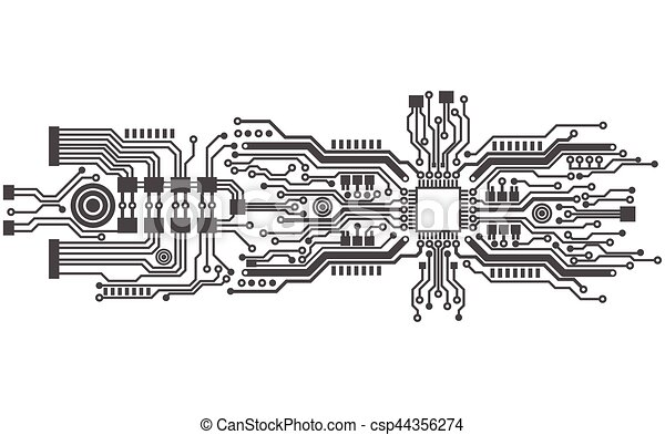 circuit board background texture  vector illustration